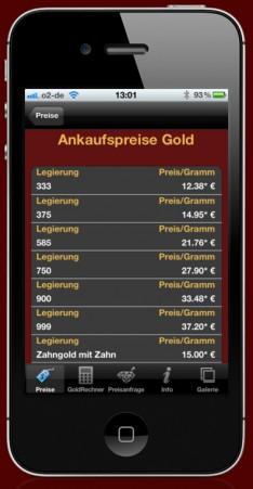 Unsere Goldankauf App für Apple und Android Geräte! - App-Abbildung-1