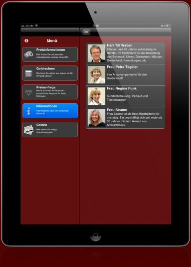 iPhone App and iPad App to purchase gold, silver and platinum - App-Abbildung-iPad4
