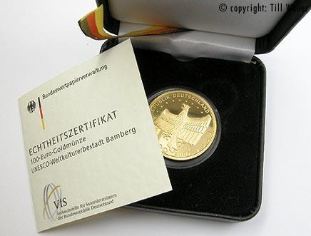 Goldmünzen Deutschland - 100_Euro_Bamberg_2
