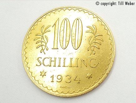 Goldmünzen Österreich Ungarn - 100_Schilling