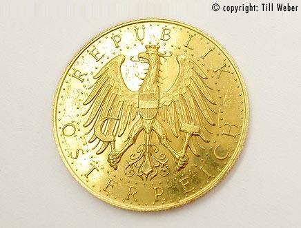 Goldmünzen Österreich Ungarn - 100_Schilling_1