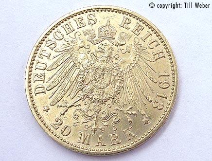 Goldmünzen Deutschland Kaiserzeit - 20_Mark_1