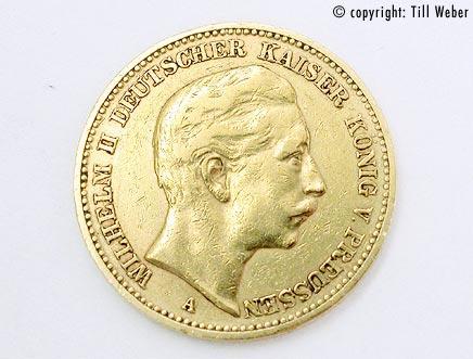 Goldmünzen Deutschland Kaiserzeit - 20_Mark_W_II