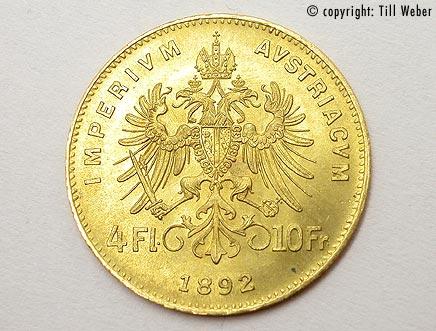 Goldmünzen Österreich Ungarn - 4_Florin