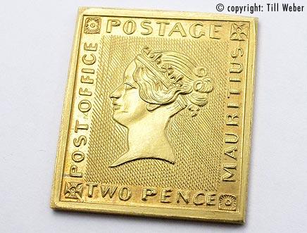 Goldmünzen Varia 1 - briefmarke_mauritius
