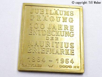 Goldmünzen Varia 1 - briefmarke_mauritius_1