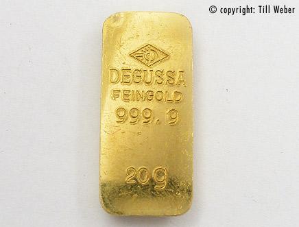 Degussa Goldbarren 20 Gramm