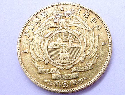 Goldmünzen Südafrika - goldmuenze_pond_sued_afrika