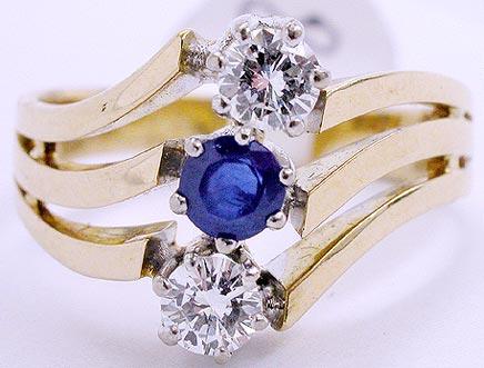 Brillantschmuck - ring_brillanten_saphir