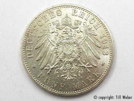 Silbermünzen Ankauf - silbermuenze_5mark_friedrich