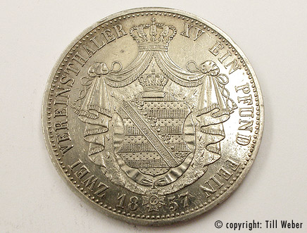 Silbermünzen - silbermuenze_vereinsthaler