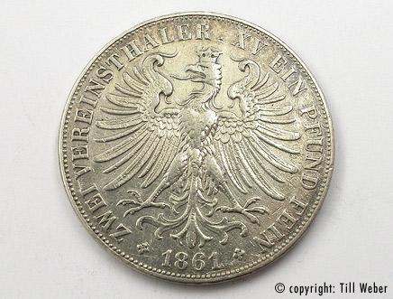 Silbermünzen - silbermuenze_vereinsthaler_frankfurt
