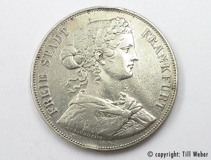 Silbermünzen - silbermuenze_vereinsthaler_frankfurt_1