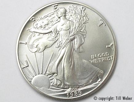 Silberunze American Eagle