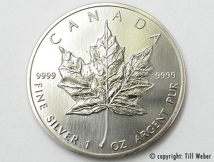 Silberunze Maple Leaf