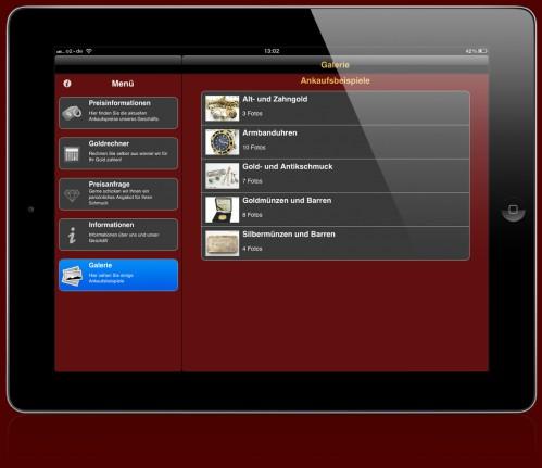 Unsere Goldankauf App für Apple und Android Geräte! - App-Abbildung-iPad3