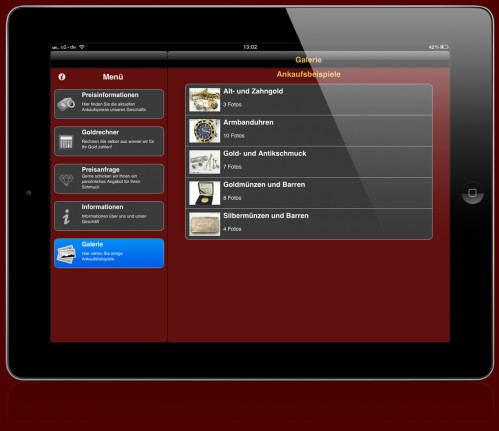 iPhone / iPad App GoudAankoop - App-Abbildung-iPad3